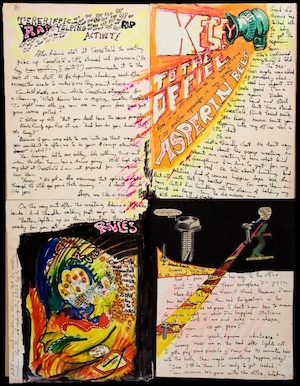 Kesey Jailhouse Manuscript Collage